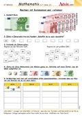 Rechnen mit Euromünzen und -scheinen