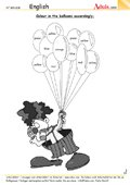 Colour the balloons - Can you cheer up the clown?