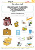 My school things - Have you got all these?