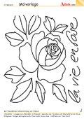 Malvorlage Rose