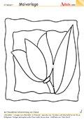 Malvorlage Blumenbild