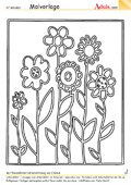 Malvorlage Blumenwiese
