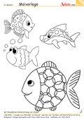 Malvorlage bunte Fische