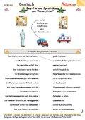 Unfall - Begriffe und Sprachübung