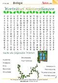 Worträtsel Kletterpflanzen