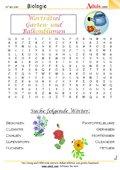 Worträtsel Garten- und Balkonblumen