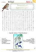 Worträtsel Gartenvögel