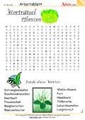 Worträtsel Pflanzen die im Wald wachsen
