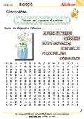 Worträtsel Pflanzen auf trockenen Graswiesen