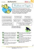 Rechnen mit Vögeln