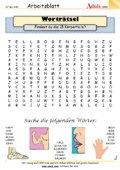 Worträtsel 18 Teile des menschlichen Körpers