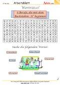 Worträtsel 6 Berufe mit dem Buchstaben U