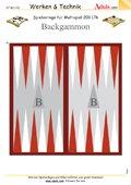 Spielvorlage Backgammon für Multispiel, N° 200.176