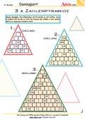 Zahlenpyramide - Gehirnjogging