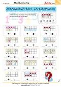 Zusammenzählen Zahlenraum 10