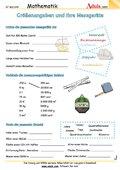 Größenangaben und ihre Messgeräte