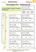 Textaufgaben Plus - Zahlenraum 20