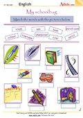 My schoolbag - Full of useful things