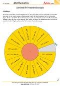 Lernkreis für Prozentrechnungen