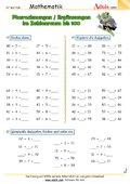 Plusrechnungen / Ergänzungen im Zahlenraum bis 100