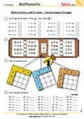 Multiplikation und Division - Übungen