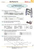 Kompetenzcheck Maße / Rechenoperationen