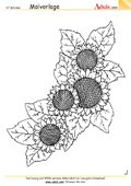 Malvorlage Sonnenblumen