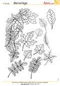 Malvorlage Herbstblätter