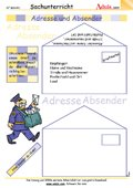 Adresse und Absender