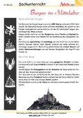 Burgen im Mittelalter