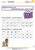 Adjektive mit und ohne Artikel im 1. und 4. Fall