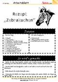 """Rezept """"Zebrakuchen"""""""