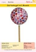 Gartenkugel aus Mosaik