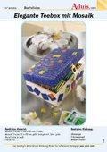 Elegante Teebox mit Mosaik