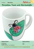Porzellan Tasse mit Marienkäfer Design