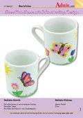 Porzellan Tasse mit Schmetterlinge