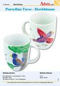 Porzellan Tasse Vögel - Hochhinaus