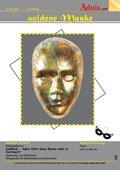 Reliefgießen goldene Maske