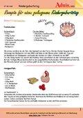 Rezepte für den Kindergeburtstag