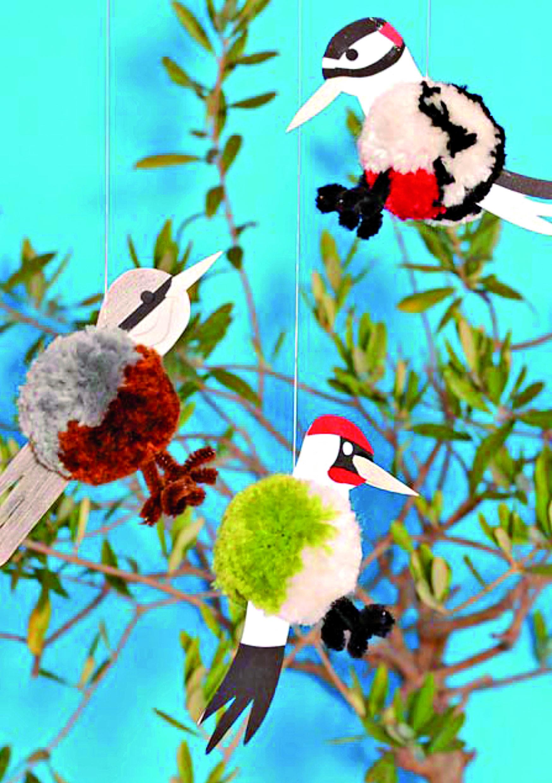 Pompon-Vogel zum Aufhängen