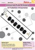 Fimo Armband mit funkelnden Strasssteinen