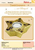 Teelichtstern mit Effektfolie