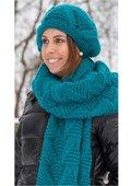 Breiter Schal mit Mütze
