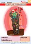 Vase mit Holzstäbchen