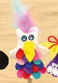 Fingerpuppe Paradiesvogel