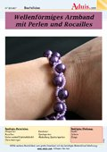 Wellenförmige Armband mit Perlen und Rocailles