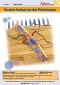 Kreatives Armband aus dem Perlenwebrahmen