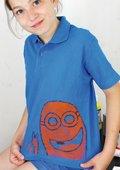 Linoldruck auf T-Shirt