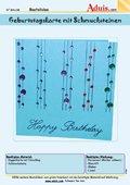 Geburtstagskarte mit Schmucksteine
