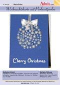 Weihnachtskarte mit Perlmuttperlen